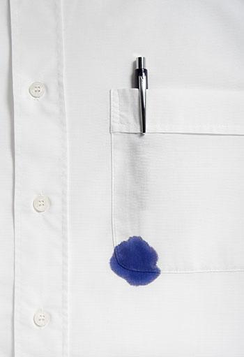 kuglepen pletfjerning på tøj