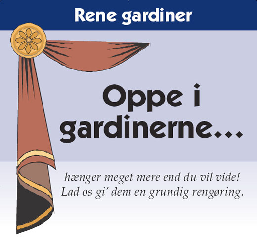 Gardinrens hos renseri i Kalundborg