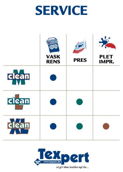 Renseservice - 3 forskellige renseformer i vores renseri / vaskeri i Allerød.